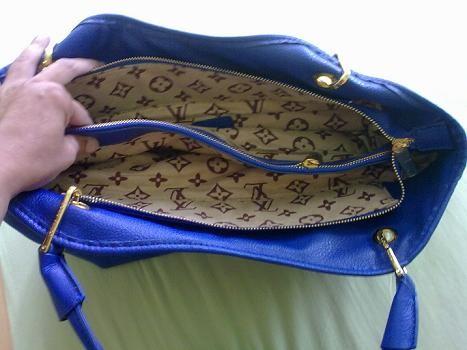 Fotografie patří inzerátu LV - Louis Vuitton kabelka nová, modrá ...